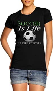 Best AM T-Shirts Soccer is Life The Rest is JUST Details Womens Black Girly Tee Review