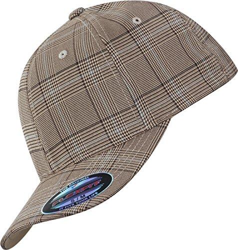 Flexfit Casquette PLAID HAT brown khaki, S/M