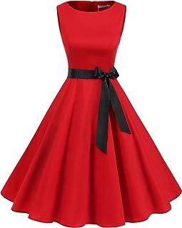 Gardenwed Mujer Audrey Hepburn Rockabilly Vintage Vestido 1950s Retro Cóctel Swing Fiesta Vestido