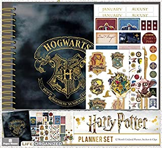Paper House Productions PLS0005 Harry Potter 12 Month Planner Set includes Stickers Puffy Clips