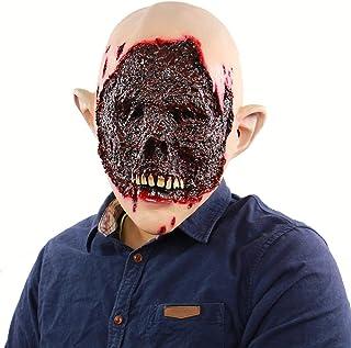 ZJMIYJ Halloween mask, halloween kostym party Scary Horror latex Faules ansikte huvudmask helmask för halloween utklädsel ...