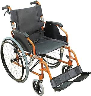 Aidapt Deluxe Self Propelled Wheelchair, Orange (VA165SILVER)