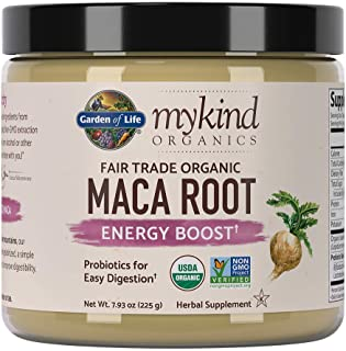 Garden of Life mykind Organics Fair Trade Organic Gelatinized Peruvian Maca Root Energy Boost 7.93 oz (225g) Powder with P...