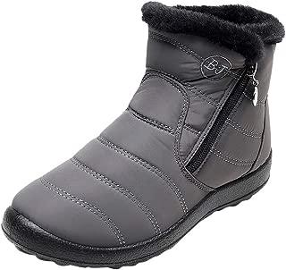 Women's Winter Warm Waterproof Cotton Shoes Nylon Snow Ankle Short Boots Botas