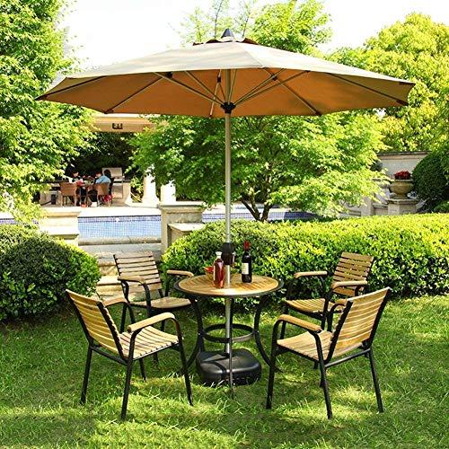 HIGHKAS Sombrilla jardín, Sombrillas Market Patio Sombrilla para Exteriores Mesa jardín para jardín Toldo Sol Poste Aluminio Protección UV 270cm * 250cm para terraza al Aire Libre Patio Protección