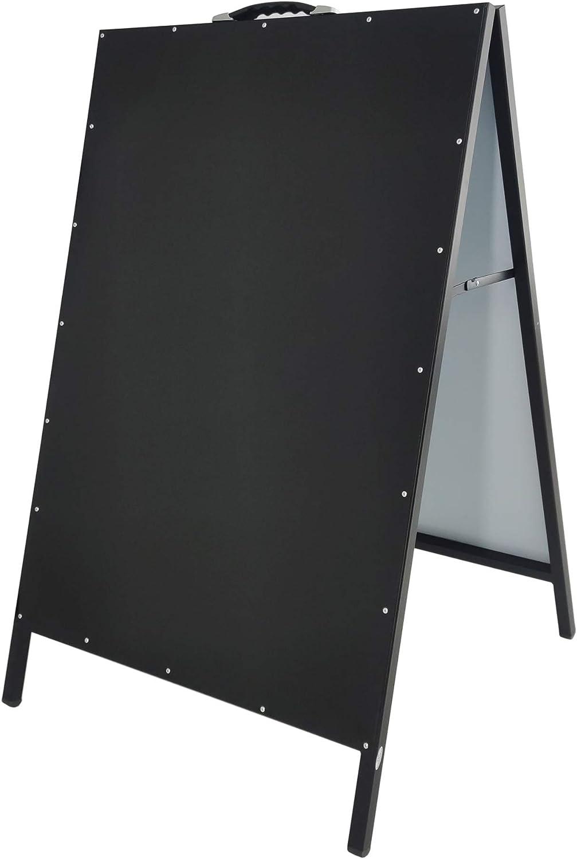 FixtureDisplays A-Frame Black Menu Board Sid All Erase マーケット Metal Dry ストアー