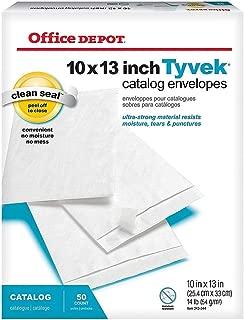 Office Depot Tyvek(R) Envelopes, 10in. x 13in, White, Box of 50, 79852