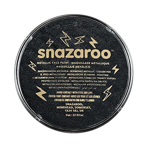 Snazaroo - 1118110 - Maquillage - Galet de Fard Aquarellable - 18 ml - Noir Électrique