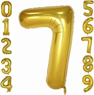 Tellpet Gold Number 7 Balloon, 40 Inch