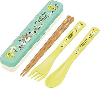 Skater lunch chopsticks Slim trio set My Neighbor Totoro Field ziburi Made in Japan 18cm TAC1