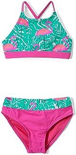 Girls' Fashion Ruffle Bikini Swimsuit Set with UPF 50+ Sun Protection