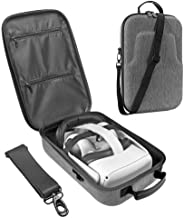 Esimen Fashion Travel Case for Oculus Quest/Quest 2 VR Gaming Headset and Controllers Accessories Carrying Bag (Grey)