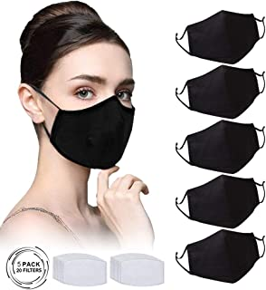 Sponsored Ad - Black Washable Face Bandanas