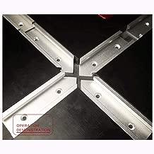 Graysky Woodworking Table Slideway Rail Kit, 4 Pcs Cross T-track DIY Slot Connector 30 Type Aluminum Alloy Miter Chute (sliver)