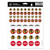 WinCraft NHL Chicago Blackhawks Vinyl Sticker Sheet, 8.5' x 11'