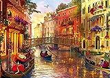 HUADADA Puzzle 1000 Pièces Adultes, Puzzle Classique Paysage Venise Puzzle Enfant Puzzle ...