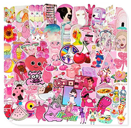 Girl Heart Suitcase Stickers Mobile Phone Guitar Decoration Panel Suitcase Computer Skateboard Waterproof Stickers 64 Sheets