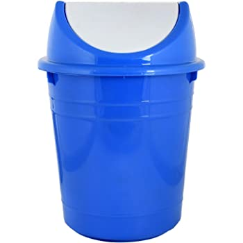 Kuber Industries Plastic Medium Size Swing Lid Garbage Waste Dustbin for Home, Office, Factory, 10 litres (Blue) -CTKTC043181