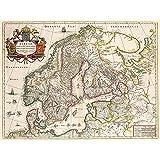 Map Antique Scandinavia Norway Sweden Finland Unframed Wall Art Print Poster Home Decor Premium