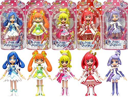 bandai korea Glitter Force PreCure doki doki PreCure Pretty Cure 5 Figure Doll Set New