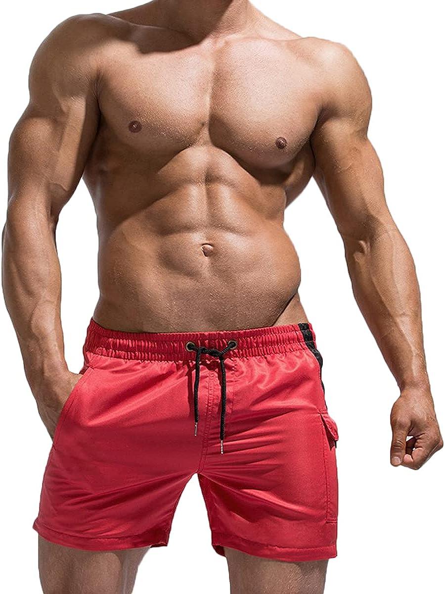 store Magiftbox free shipping Mens Quick Dry Swim Trunks Wo Beach inch 5 Shorts