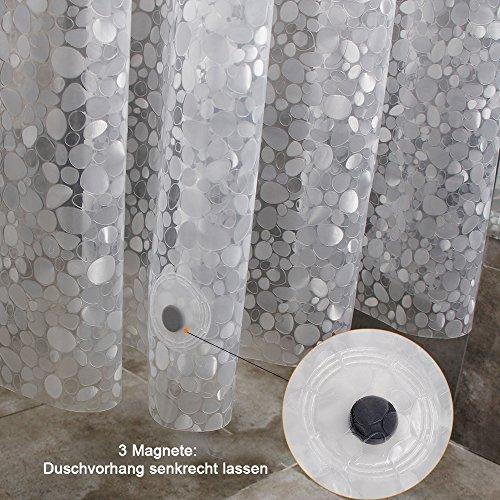 WELTRXE Duschvorhang183x200cm 3D Steinmuster