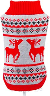 Printed Dog Clothes Soft Pet Cat Sweater for Small Medium Dogs Christmas Costume Chihuahua Clothes Puppy Hoodie