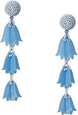 Runway Beaded Bellflower Drop P Earrings
