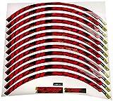 Colore: rosso. Ecoshirt OK-3XRB-10WT Adesivi Stickers Cerchioni Rim Mavic Crosstrail Bike 27,5\