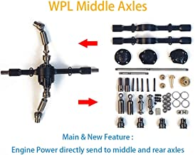 MaxMetal WPL Upgrade Metal Spare Part Official OP Fitting Accessories Middle Axles for B16 B36 RC Car