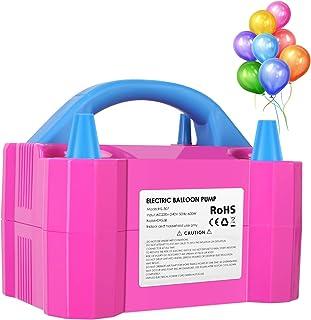 MVPower Inflador de Globos 600W, Bomba Globos Electrico, Bomba Helio de Globo Aire, para organiazación de Fiesta, Cumpleaños, Bodas, Color Rosado