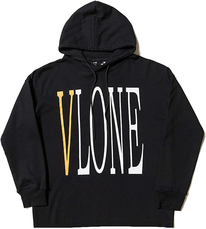 ramsons Vlone Big V Casual Loose Hoodie Simple Fashion Couple Hoodies Hip Hop Hooded Street Style Long Sleeve Sweater