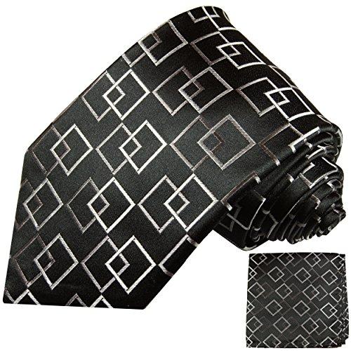 Cravate homme noir á carreaux ensemble de cravate 2 Pièces ( longueur 165cm )