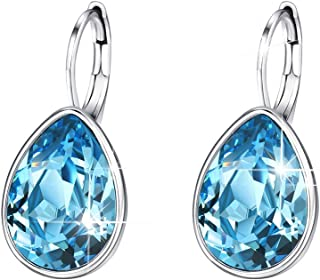 Xuping Jewellery Gorgeous Fashion Crystals Huggies Earrings for Women Girl and Mom Girlfriend