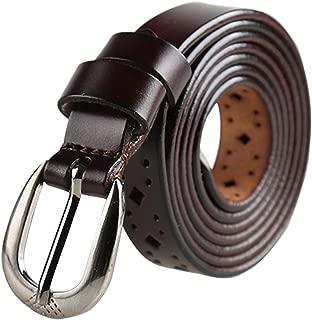 uxcell® Women Thin Hollow Out Single Pin Buckle Belt Width 3/4