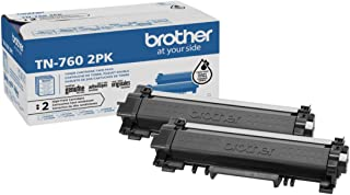 Brother Genuine High-Yield Black Toner Cartridge Twin Pack TN760 2Pk