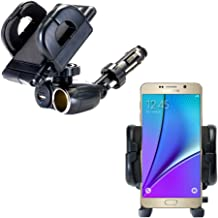 Gomadic Dual USB / 12V Charger Car Cigarette Lighter Mount and Holder for The Samsung Galaxy Note5 / Note 5