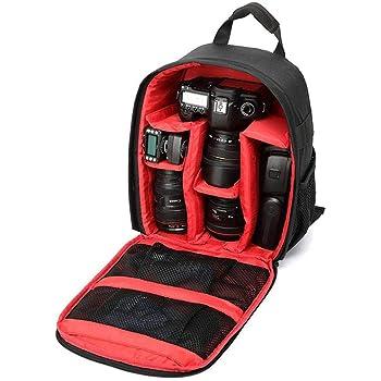 Lionina Zaino per fotocamera digitale SLR resistente colore: viola antiurto protezione multistrato impermeabile per fotocamere fotografiche fotografiche e da viaggio