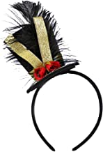 Tutu Dreams Feather Circus Headband Party Top Hat Head Band Glitter Ribbon Pageant