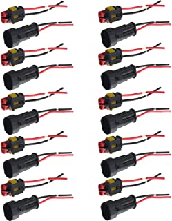 Supmico 10 X 2 Polig Kabel Steckverbinder Stecker Wasserdicht Schnellverbinder Draht KFZ
