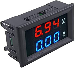 ug land india 0-100v 10a dc digital led voltmeter amperometro amp volt meter accuracy wb1- Multi color