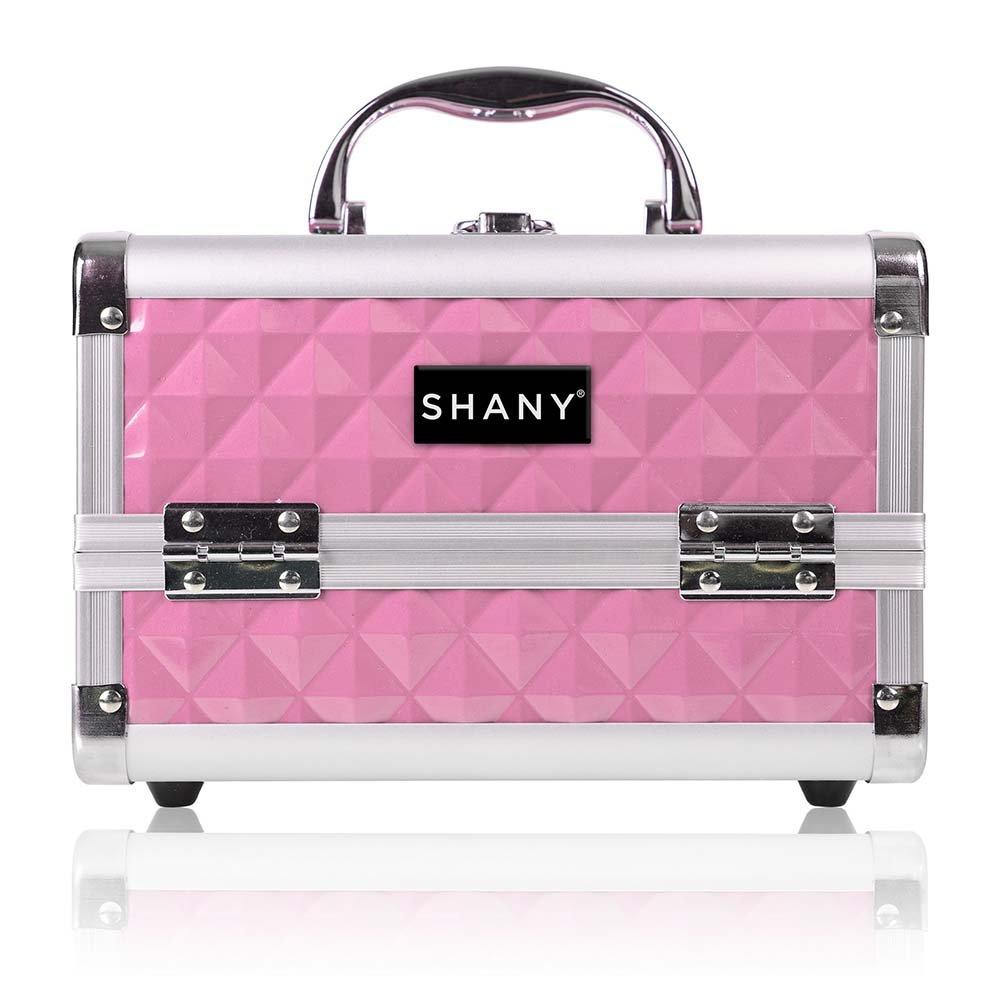 SHANY Mini Makeup Train Case PINK With Mirror - Polite Nippon regular agency Seasonal Wrap Introduction