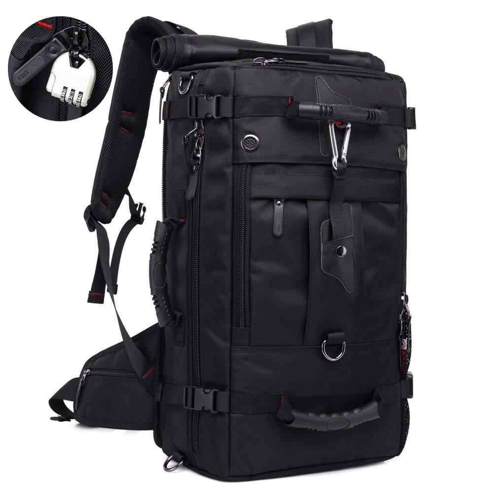 KAKAトラベルバックパック、ラップトップバックパック、防水ハイキングバックパック、男性と女性の大学生、17インチのラップトップ用盗難防止バッグ