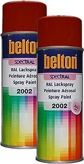 Kwasny 2X 324 030 Belton Spectral Lackspray RAL 2002 blutorange Hochglanz 400ml