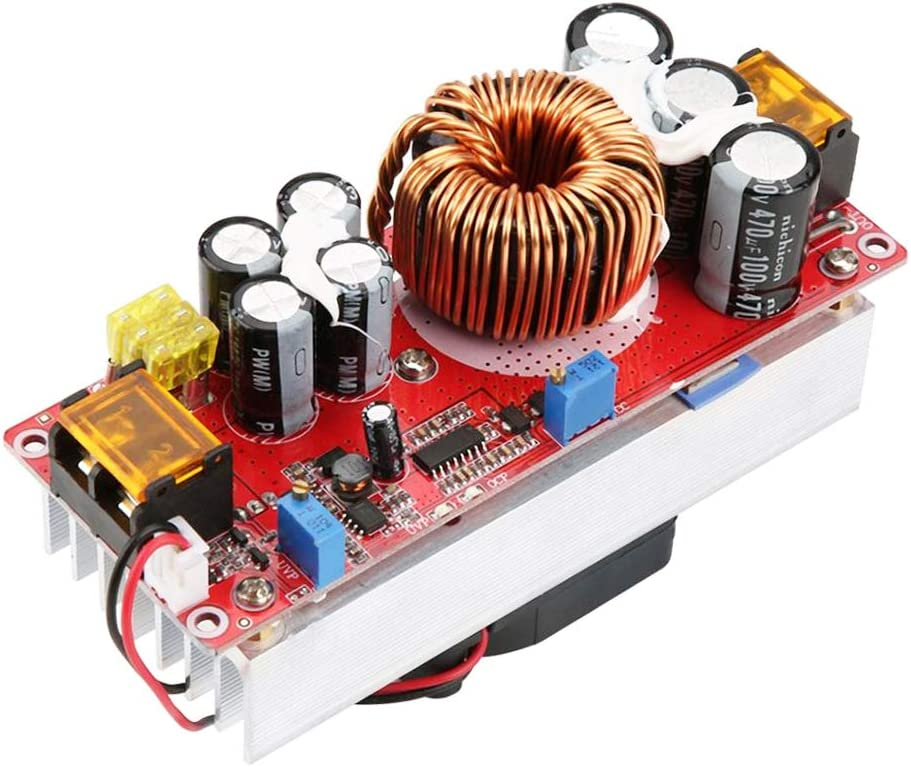 Stayhome 1pcs 1500W 30A Voltage Step Up Converter Boost CC CV Power Supply Module Step Up Constant Current Module DC-DC 10-60V to 12-97V