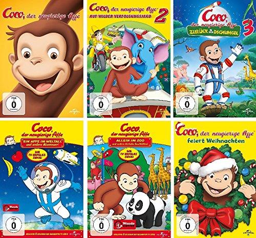 Coco - der neugierige Affe - 6 DVD Set - Deutsche Originalware [6 DVDs]