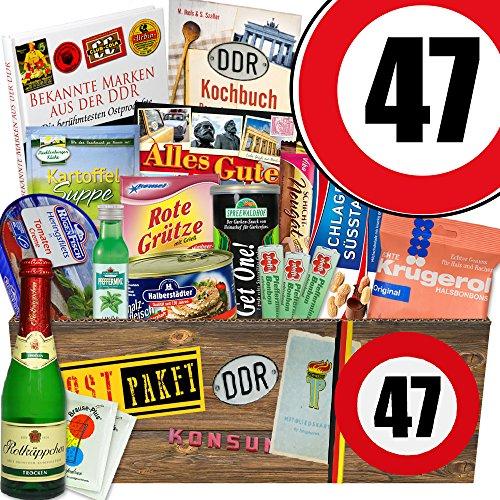 Ostpaket XXL / Spezialitätenbox / Zahl 47 / Geschenkset für Sie