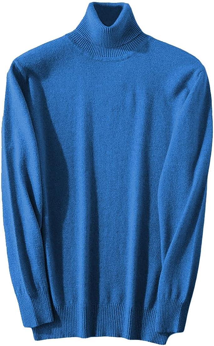 Wofupowga Men's Cashmere Blend Turtleneck Sweater