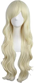 "MapofBeauty 28""/70cm Charming Women's Long Curly Full Hair Wig (Light Blonde)"