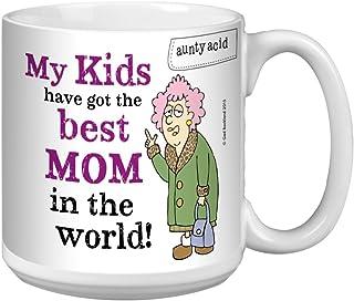 Tree-Free Greetings Extra Large 20-Ounce Ceramic Coffee Mug, Aunty Acid Best Mom (XM41620)